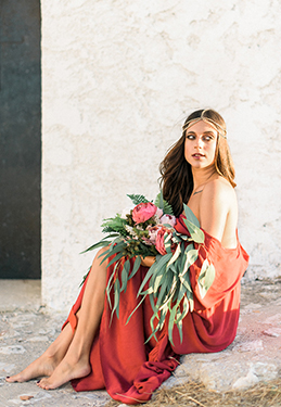 boho inspired bridal photo session