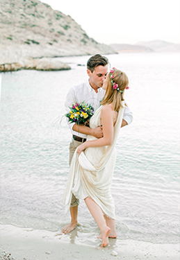 Phaedra + George. Intimate wedding in Chalki island