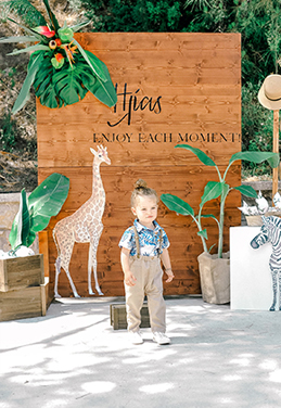 TROPICAL JUNGLE THEMED BAPTISM IN RHODES