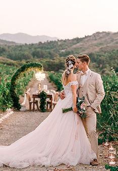 IMPOSSIBLY ROMANTIC VINEYARD WEDDING IN RHODES WITH A FEMININE PALETTE OF SUMMER SHADES